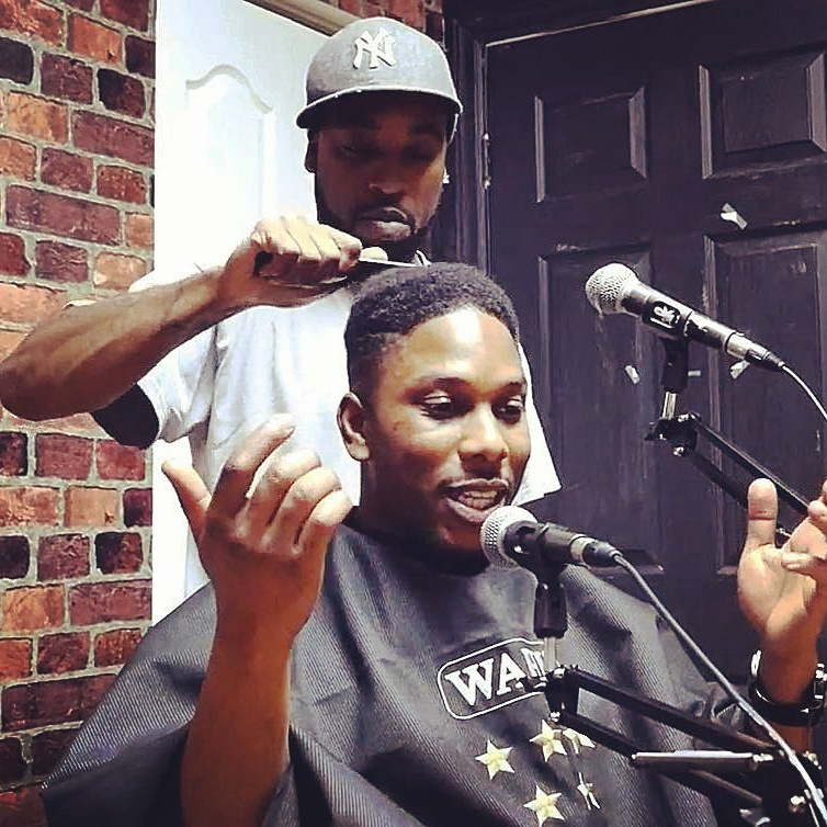 Celebrity Barber Gets Interviewed and Gives Haircut to Radio Show Host
